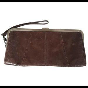Kenneth Cole Reaction Brown Leather Wristlet